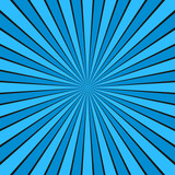Dynamic abstract sun rays background - comic vector graphic design from radial stripe pattern
