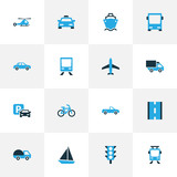 Shipment Colorful Icons Set. Collection Of Cab, Tanker, Autobus And Other Elements. Also Includes Symbols Such As Aircraft, Carrier, Carriage. - 176770817