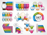 Collection infographics. Design elements. Infographics for business presentations or information banner. - 176773283