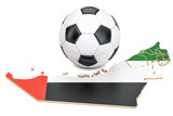 Football ball with map of United Arab Emirates concept, 3D rendering - 176775816