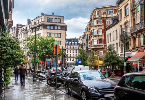 Fotobehang Brussel Street in Brussels