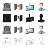 Metropolitan, stop, man, and other web icon in cartoon style.Underground, fast, subway icons in set collection. - 176780658