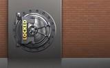 3d safe locked vault door - 176788090
