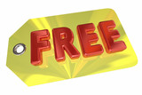 Free Price Tag No Cost Fee Word 3d Illustration - 176793066