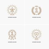 Set of four linear winner awards. - 176793838