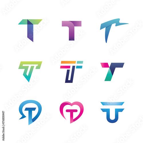 2772a64dea27a0 Abstract Letter T Logo Set | Buy Photos | AP Images | DetailView