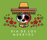 Dia de los muertos. Day of The Dead vector poster - 176801201