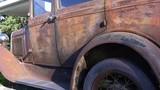 vintage rusty antique automobile closeup details 4k - 176801424