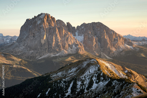 Mountain panorama in the Italy. Beautiful natural landscape in the Italy mountain - 176804082