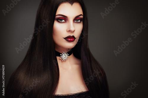 Halloween Vampire Woman portrait Poster