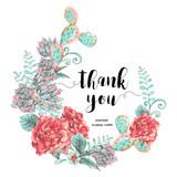 Vintage greeting card with blooming flowers - 176810813