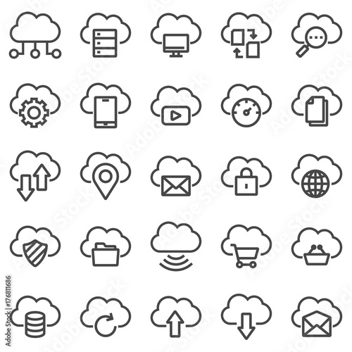 Cloud technology icons.