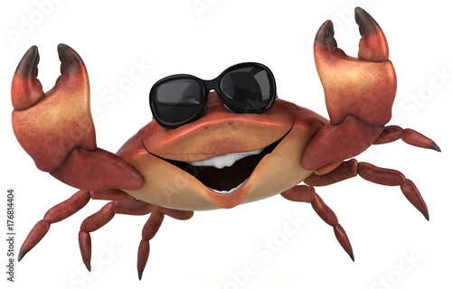 Fun crab - 3D Illustration - 176814404