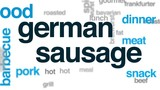 German sausage animated word cloud, text design animation. - 176820695