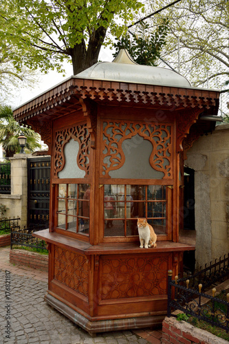 Wooden kiosk in Istanbul Poster