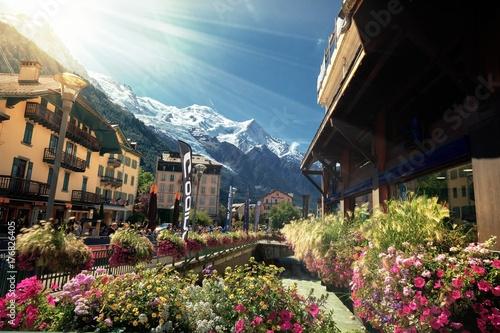Fridge magnet Beautiful Landscape in Chamonix France Alps.