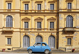 Vintage car FIAT 500 in Tuscany - 176827207