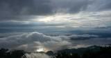 Timelapse sunrise and clound moving over Doi Tao lake in Chiangmai, Thailand. - 176827810