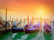 Quadro Gondolas on Canal Grande with San Giorgio Maggiore church, Venice