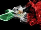 Mexico national smoke flag - 176829433