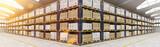 Panorama von Lagerhalle mit vielen Kisten - 176830055