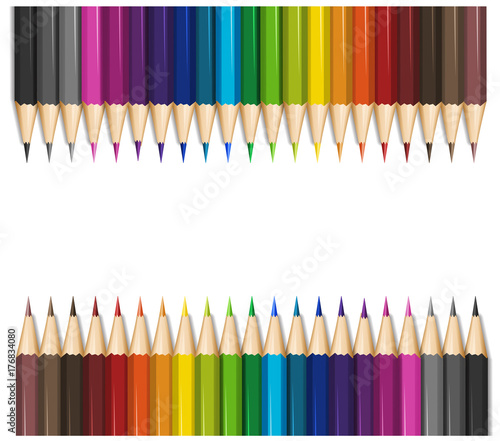 Poster Kids Background design with color pencils
