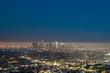 Quadro Los Angeles Downtown at night. Beautiful panorama cityscape.