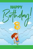 Happy birthday card for eight year old - 176835819