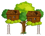Two treehouses on the tree - 176836466