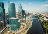 Aerial view of Moscow downtown, Russia