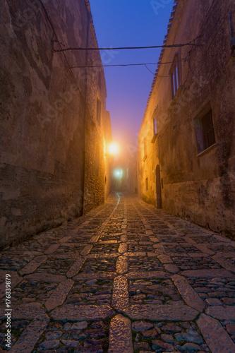 Wall Murals Narrow alley ERICE - SICILIA