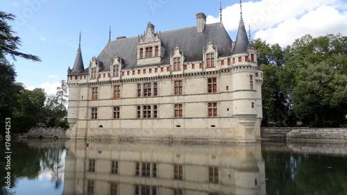 Fridge magnet France Château d'Azay Le Rideau Loire Indre-et-Loire douves Renaissance française à inspiration italianisante
