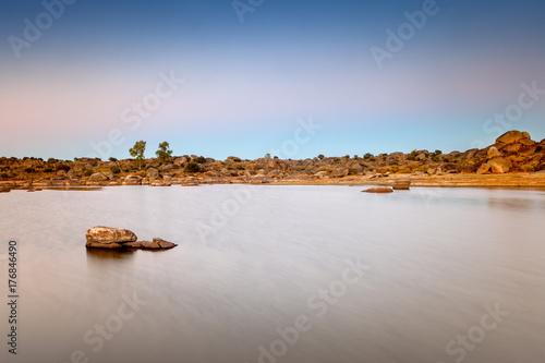 Fridge magnet Photograph taken in the Natural Area of Barruecos. Spain.