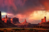 Spectacular Sunset in Monument Valley - 176850049
