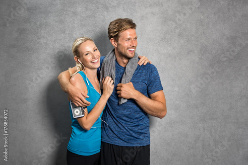 Poster Couple after workout