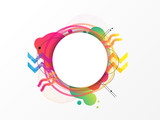Colorful geometric element, abstract background, vector illustration, circle design