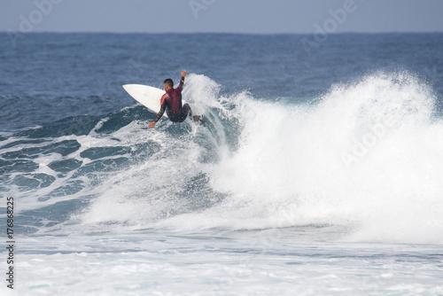 Foto op Canvas Canarische Eilanden surfer