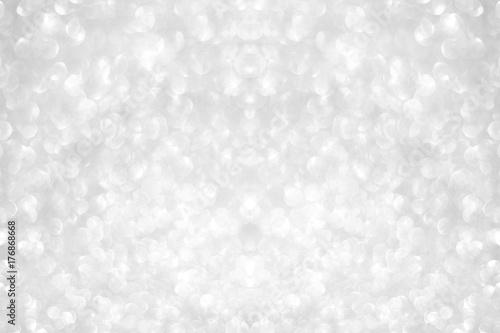 biały srebrny brokat bokeh tekstury Boże Narodzenie abstrakcyjne tło