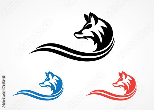Fototapeta elegant wolf silhouette logo