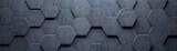 Concrete Wide Hexagon Background (Site head) (3d illustration) - 176876280