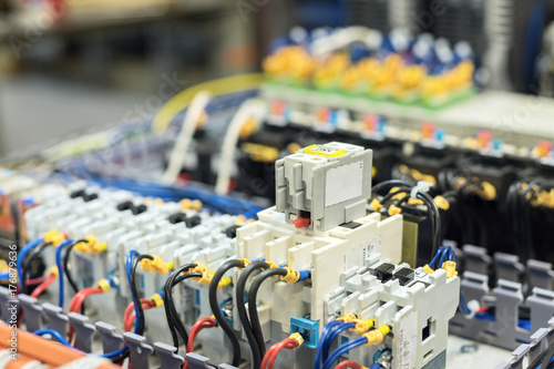 Electrical equipment. Selective focus. Poster