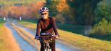 Cycling, mountain bikeing woman