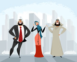 Arab men and woman - 176881853