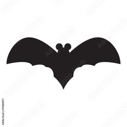Isolated silhouette of a bat, Halloween vector illustration