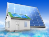 3d solar panel with green house