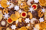 Assorted Christmas biscuits and spices