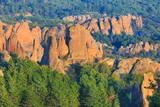 Mountains panorama of Belogradchik cliff rocks, nature gem landmark, Bulgaria - 176892857