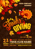 Thanksgiving party poster template - 176899623