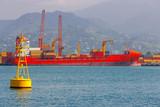 Batumi. Container ship near the pier. - 176903867
