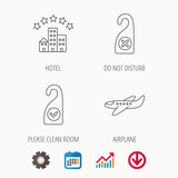 Hotel, airplane and do not disturb icons. - 176905233